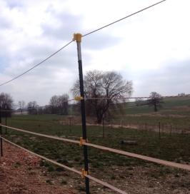 Zaun mit Bändern